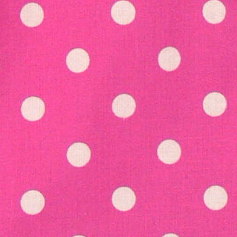 cotton cloth polkadots/cyclam